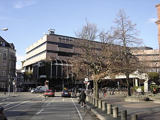 University Library Freiburg - Main library building prior to undergoing extensive renovation from 2008-2015