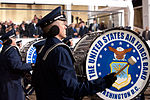 United States Air Force Band passes presidential reviewing stand 130121-Z-QU230-346.jpg
