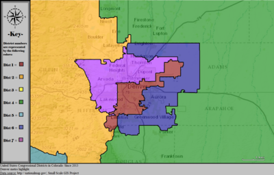United States Congressional Districts in Colorado (metro highlight), since 2013.tif