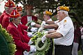 United States Military Order of the Cootie lay wreaths at the Argonne Cross in Arlington National Cemetery (30577621211).jpg