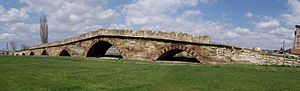 Vučitrn - The nine-arched Vojinović Bridge from the medieval period.
