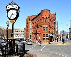 Street clock - Street clock in Utica, NY, USA.