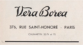 VERA BOREA - LOGO PARIS SAINT HONORE - 1936.png