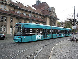Flexity Classic - A Flexity Classic tram in Frankfurt am Main.