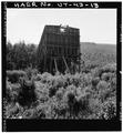 VIEW OF LARGE TIMBER FRAMED HOPPER, LOOKING EAST - Jones Mine, Scofield, Carbon County, UT HAER UTAH,4-SCOF,1-13.tif