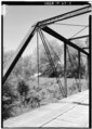 VIEW SHOWING SECTION ON NORTHWEST SIDE - Mill Creek Bridge, Mill Creek, Alton, Crawford County, IN HAER IND,13-ALT.V,1-7.tif