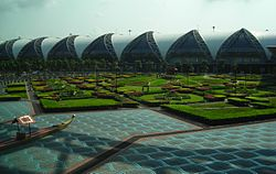The gardens of the airport