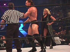 Trish Stratus - Stratus as Val Venis' manager during the 2000 King of the Ring event