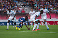 Valais Cup 2013 - OM-FC Porto 13-07-2013 - Souleymane Diawara, Kelvin, Rod Fanni, Rafidine Abdullah.jpg