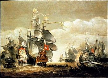 Sea battle at Lowestoft