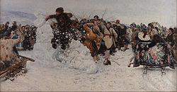 Василий Иванович Суриков: Взятие снежного городка
