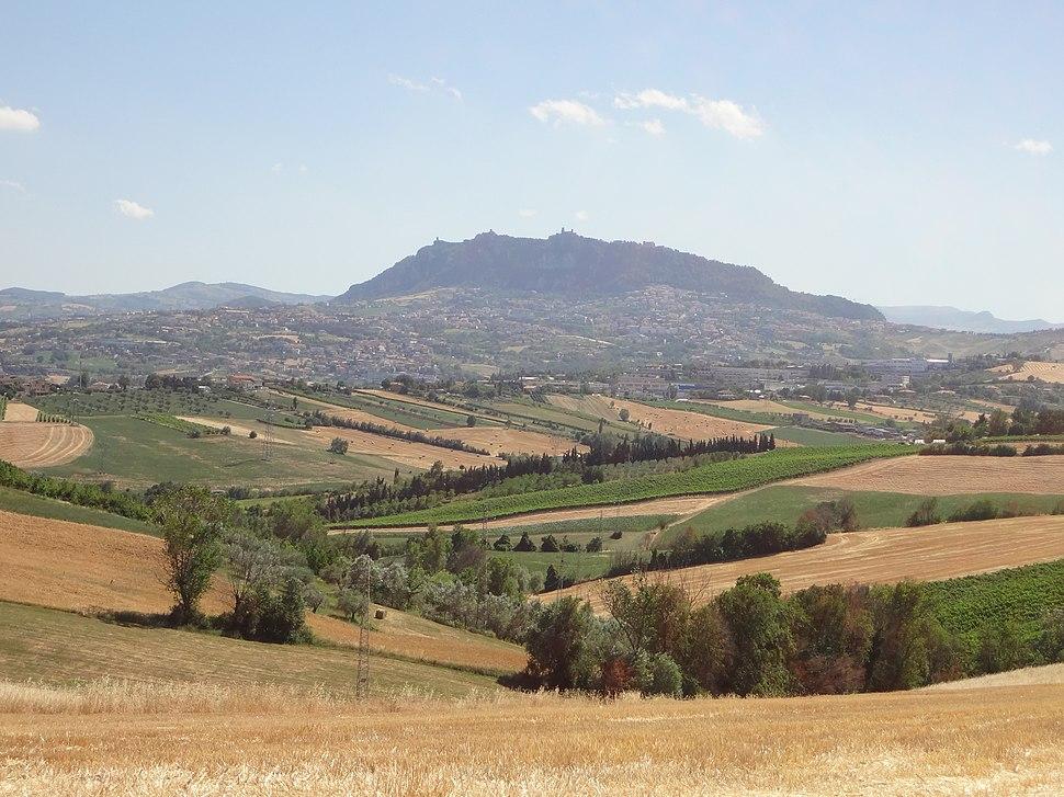 Veduta di San Marino da Montecieco (RN)