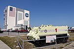 Vehicle Assembly Building and M113 Armored Escape Vehicle - Kennedy Space Center - Cape Canaveral, Florida - DSC02738-001.jpg