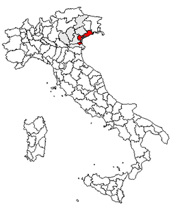 Location of Province of Venice