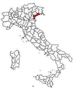 karta över venedig italien Venedig (provins) – Wikipedia karta över venedig italien