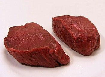 Venison Steaks 29,80 p/kg @ Baars Poelier, Mar...