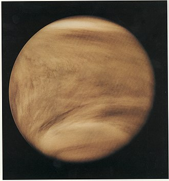 Pioneer Venus Orbiter - An image of Venus in ultraviolet light by the Pioneer Venus Orbiter