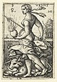 Venus met sterrenbeelden Stier en Weegschaal Venvs (titel op object) Zeven planeten en sterrenbeelden (serietitel), RP-P-OB-10.831.jpg