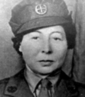 Vera Leigh - In FANY uniform (circa 1943).