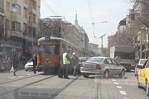 Verkehrsunfall in Sofia, car accident in Sofia...