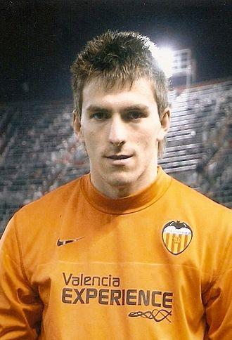 Vicente Guaita - Guaita as a Valencia player in 2009