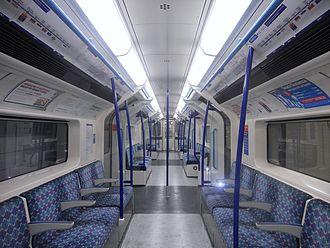 London Underground 2009 Stock - The interior of a Victoria line 2009 Stock train