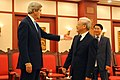 Vietnamese Communist Party Secretary General Trong Receives Secretary Kerry (11403204946).jpg