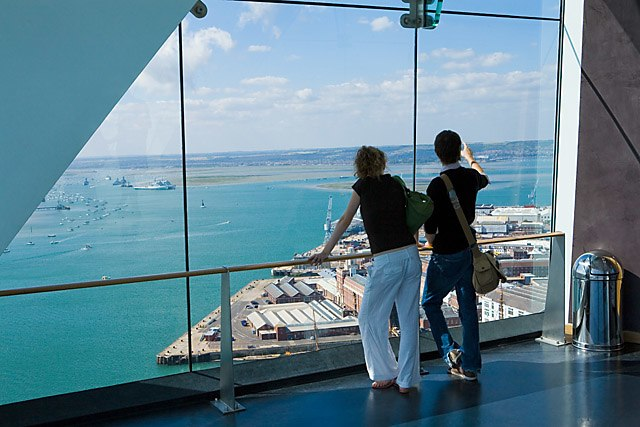 View across Portsmouth harbour from Spinnaker Tower - geograph.org.uk - 494062