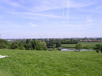 Metropolitan Borough of Doncaster - View from Cusworth Hall towards Doncaster