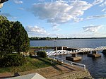 View of Bridge and Britannia park from Britannia Yacht Club.jpg
