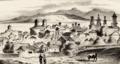 View of Galați (Gadola's Carte de l'Empire Ottoman et des pays limitrophes pour suivre les opérations de la guerre en Orient, 1853).png