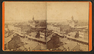 Quincy, Illinois - 19th Century View of Quincy Courthouse By John Sanftleben