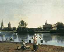 View on the lake in Moldino by G.Soroka (1840s, Tver gallery).jpg
