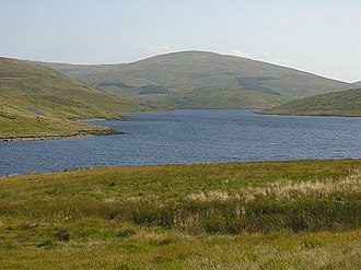 Y Garn (Plynlimon) - View over Nant-y-moch Reservoir