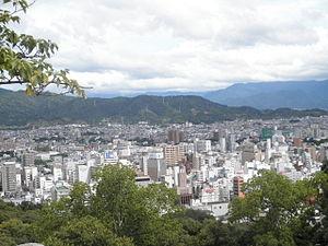 Views from Matsuyama Castle (Iyo) in 2010-9-6 No,2.JPG