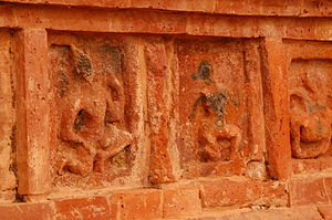 Vikramashila - The wall carvings of various deities
