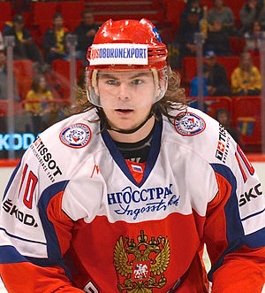 Viktor Tikhonov (ice hockey, born 1988) - Image: Viktor Tichonov May 4, 2014