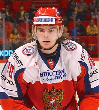 Viktor Tikhonov (ice hockey, born 1988) - Image: Viktor Tichonov May 4, 2014