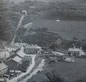 Abergynolwyn - Abergynolwyn around 1880, showing the village incline