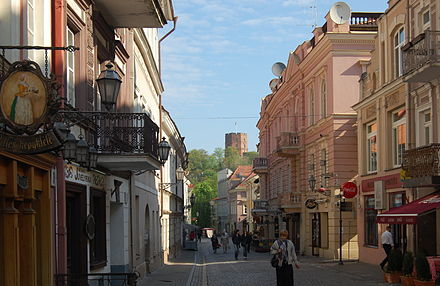Vilnius Old Town apartments offers views to the most notable landmarks of the city and a medieval atmosphere Vilnius Pilies street.jpg