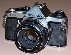 Vintage Asahi Pentax ME 35mm SLR Film Camera, Made In Japan, A Small SLR, Circa 1976 (13582328434).jpg