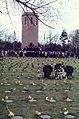 Visit by U.S. President Ronald Reagan to Bitburg military cemetery 1985, people on cemetery 2 -0003.jpg