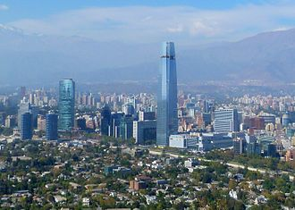 Financial center of Santiago, Chile Vista Parcial de Santiago de Chile 2013.jpg