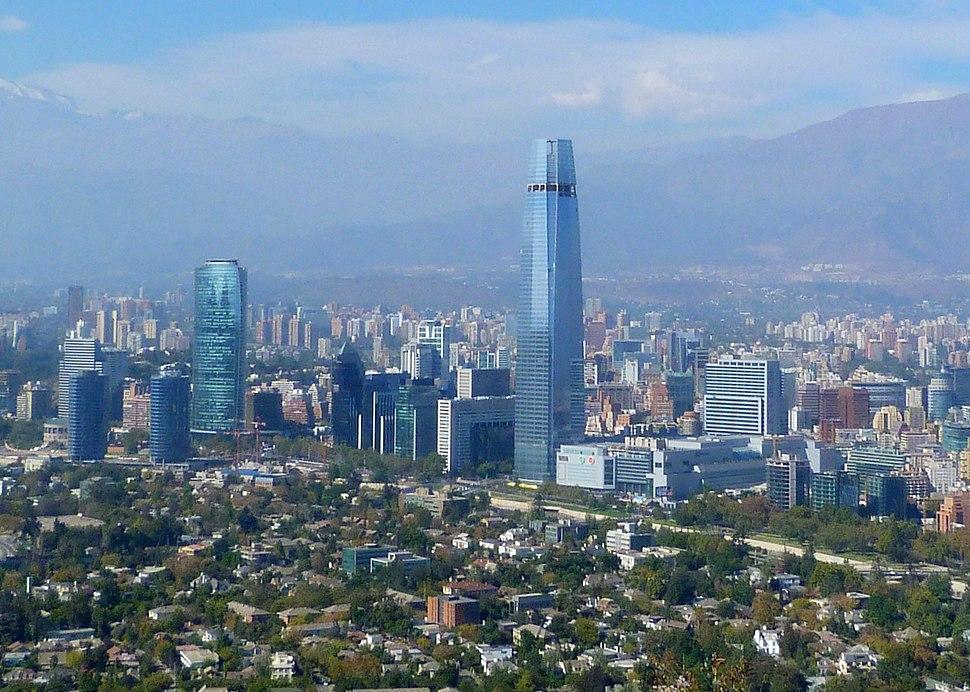 Vista Parcial de Santiago de Chile 2013