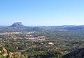 Vista d'Ondara, el Montgó, Beniarbeig i Pedreguer des de Segària.JPG