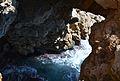 Vista de l'interior de la cova dels Arcs des de dalt.JPG
