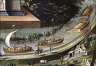 Isaak van den Blocke - Vistula grain transport, detail of the Apotheosis of Danzig