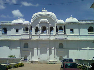 Vizianagaram Fort -  Front view of the Vizianagaram palace in the fort