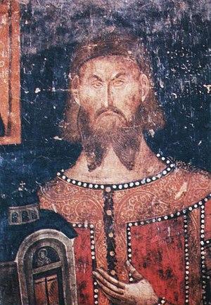 Vlatko Paskačić - Vlatko, detail of fresco in the Psača Monastery