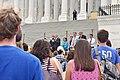 WASHINGTON, DC -- JULY 25 2016 Senators addresses crowds outside the Capitol protesting the GOP health bill. (35363697813).jpg